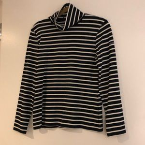 Saint James for J.Crew Striped Turtleneck Size S